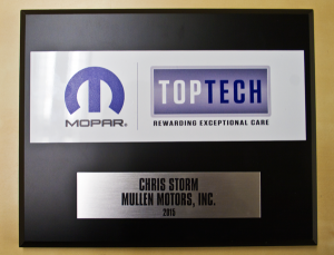 The Mopar Top Tech Award